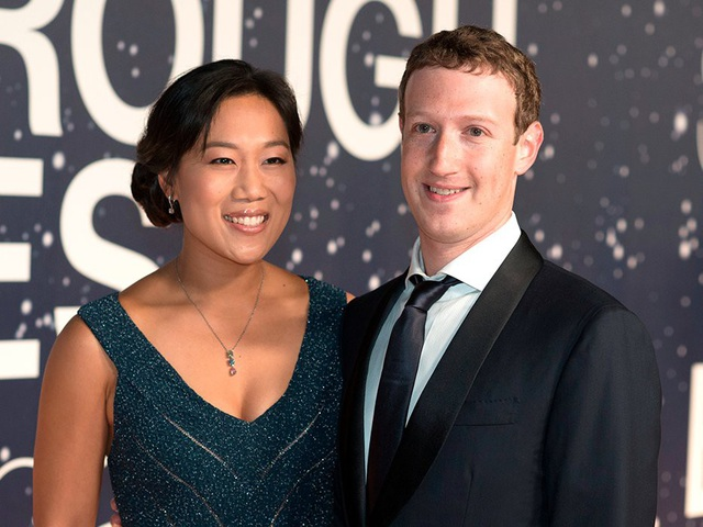 Tỷ phú Mark Zuckerberg và Priscilla Chan