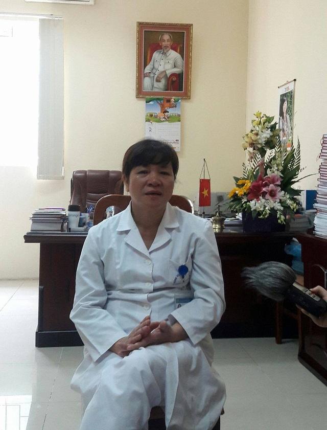 PGS.TS Quách Thị Cần, Phó Giám đốc, Trưởng khoa Cấp cứu - Bệnh viện Tai Mũi Họng trung ương