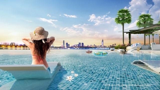 Đặc biệt hơn, nếu bạn sống ở Vinhomes Skylake thì bạn quả là một người may mắn khi chỉ cần mở cửa bước ra bên ngoài hay thư giãn trên ghế nổi dưới bể bơi là thấy ngay dải xanh dương vô tận của bể bơi tràn bờ giao hòa với mặt nước hồ điều hòa. Nhờ đó, bạn sẽ luôn được khơi gợi cảm hứng sống tươi vui mỗi ngày.