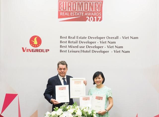 """Vingroup là """"nhà phát triển bất động sản tốt nhất Việt Nam năm 2017"""" - 1"""
