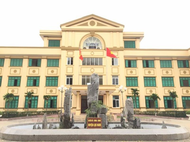 UBND huyện Lục Nam, nơi tồn tại nhiều sai phạm trong quá trình quản lý đất đai.