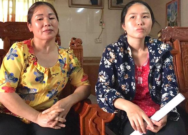 Em Vi Thị Bích và mẹ chồng bức xúc trước việc làm của cô Nga.