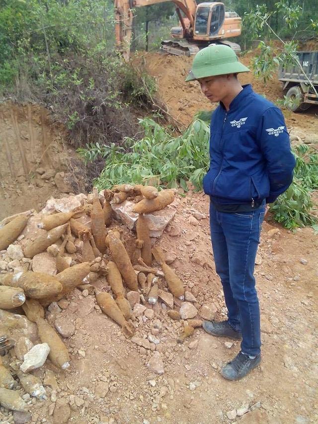 Hiện số đạn pháo này đang được trưng cầu giám định và bảo vệ nghiêm ngặt để đảm bảo an toàn cho người dân (ảnh CTV)