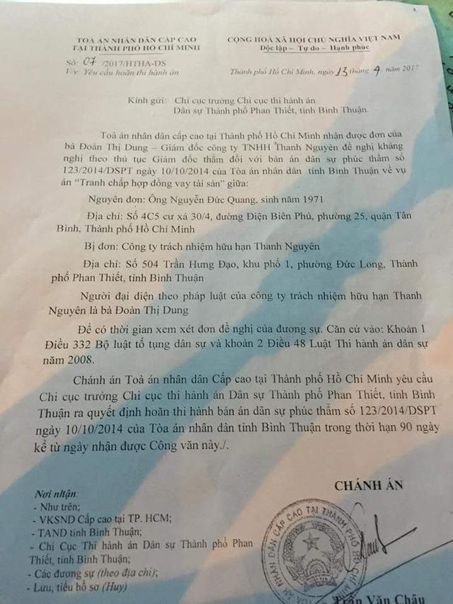 Văn bản của Tòa án nhân dân cấp cao tại TPHCM