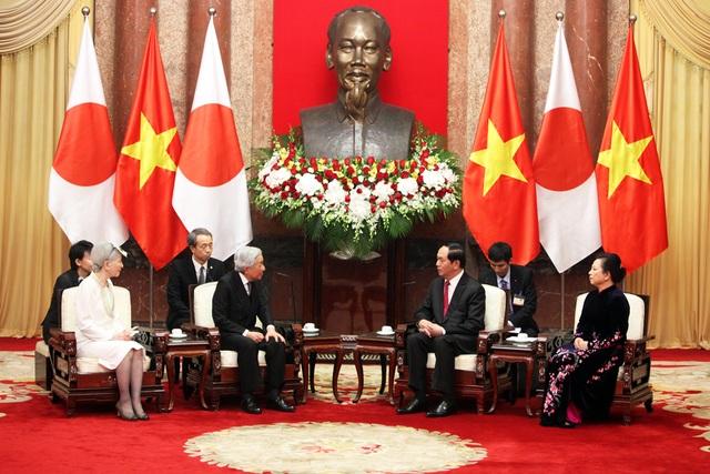 Nhật hoàng hội kiến với Chủ tịch nước Trần Đại Quang.