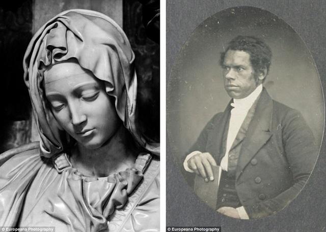 Ảnh trái: Ảnh chụp cận cảnh tượng Đức Mẹ Maria ở thành Vatican hồi thập niên 1920. Ảnh phải: Nhà truyền giáo người Anh Thomas Birch Freeman.