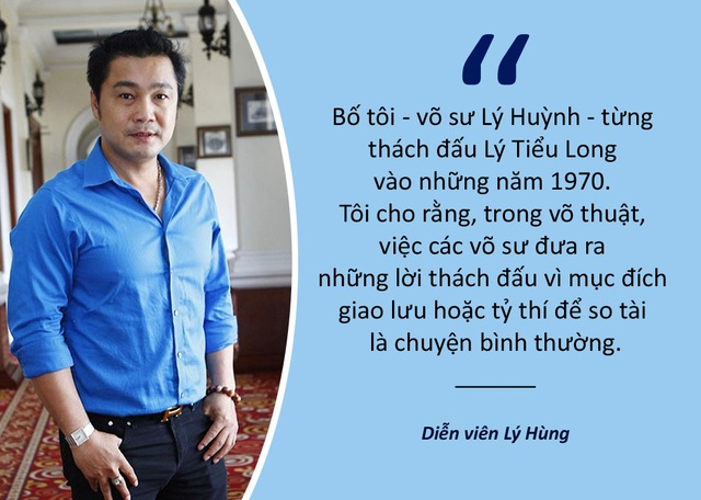 Xem thêm: Diễn viên Lý Hùng nói gì về những màn tỉ thí của cao thủ Vịnh Xuân?