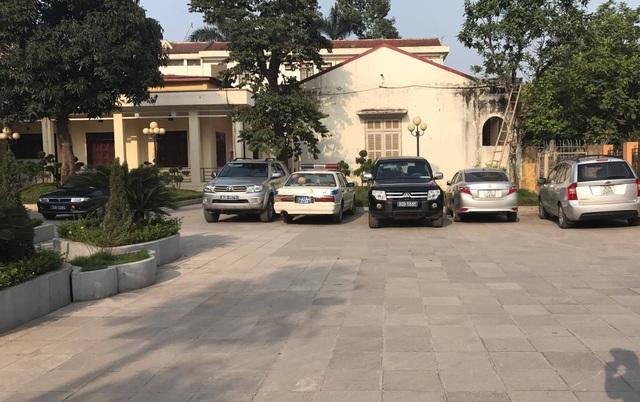 Trụ sở Huyện ủy Mỹ Đức đón đoàn của Chủ tịch TP Hà Nội về làm việc. (Ảnh: Quang Phong)