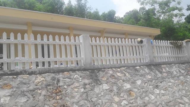 Tường rào được xây dựng kiên cố, sạch đẹp
