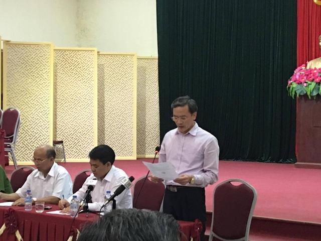 Ông Nguyễn An Huy, Phó Chánh thanh tra Thành phố đọc quyết định Thanh tra toàn diện dự án sân bay Miếu Môn