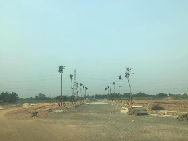Hạ tầng dự án đã hoàn thành từ hiện trạng là cánh đồng dù chưa hề được phê duyệt ĐTM.