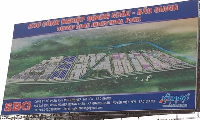 KCN Quang Châu nơi cây lúa trồng sát cạnh có hiện tượng sinh trưởng bất thường từng dính tai tiếng với dự án Ja Solar hơn 6000 tỷ trốn ĐTM.