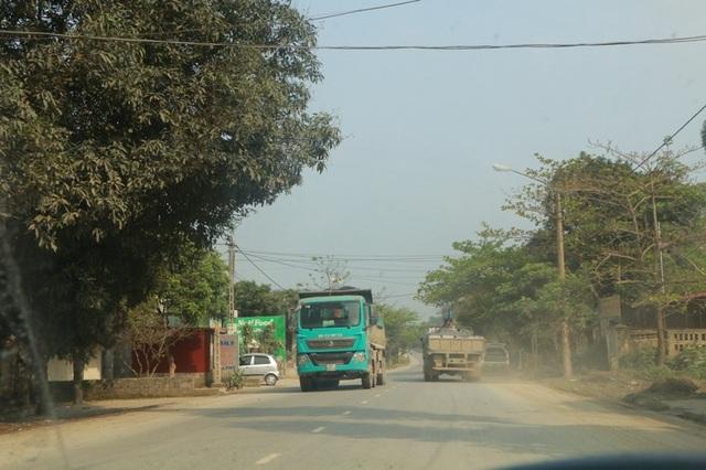 Các loại xe tải hạng nặng ngang nhiên lưu trên đường.