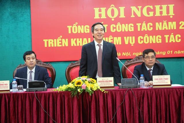 Ủy viên Bộ Chính trị, Bí thư Trung ương Đảng, Trưởng Ban Kinh tế Trung ương Nguyễn Văn Bình phát biểu tại hội nghị