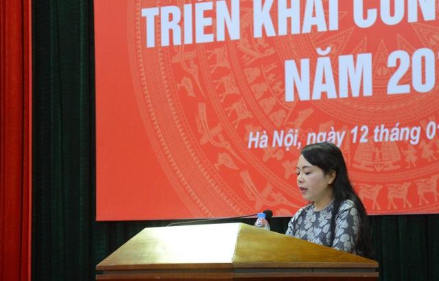 Bộ trưởng Nguyễn Thị Kim Tiến tại hội nghị.