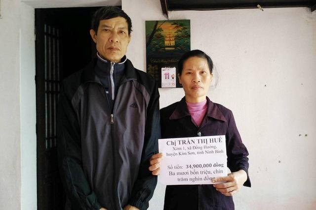 Vợ chồng anh Quang hứa sẽ chi tiêu tiết kiệm số tiền bạn đọc ủng hộ, giành để trả nợ một phần và mua thuốc chữa bệnh cho cả gia đình.