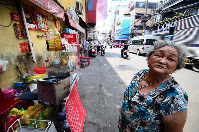 Nơi bà Trần Thị Vân mưu sinh hàng ngày.