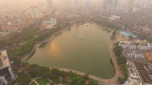 Toàn cảnh hồ Thành Công trước đề xuất cho lấp để xây nhà - 2