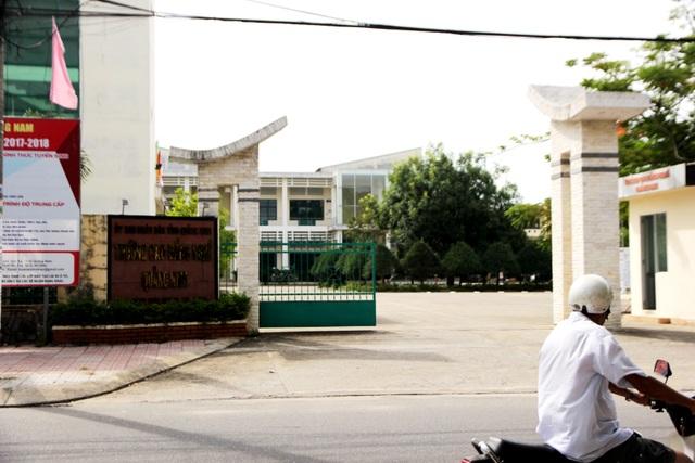 Trường Cao đẳng nghề Quảng Nam, nơi xảy ra nhiều sai phạm