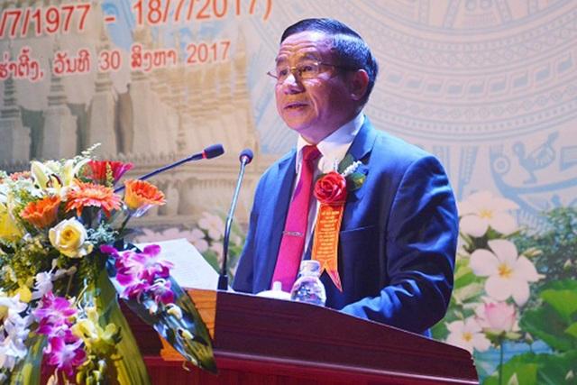 Bí thư Tỉnh ủy Hà Tĩnh Lê Đình Sơn phát biểu tại buổi lễ.