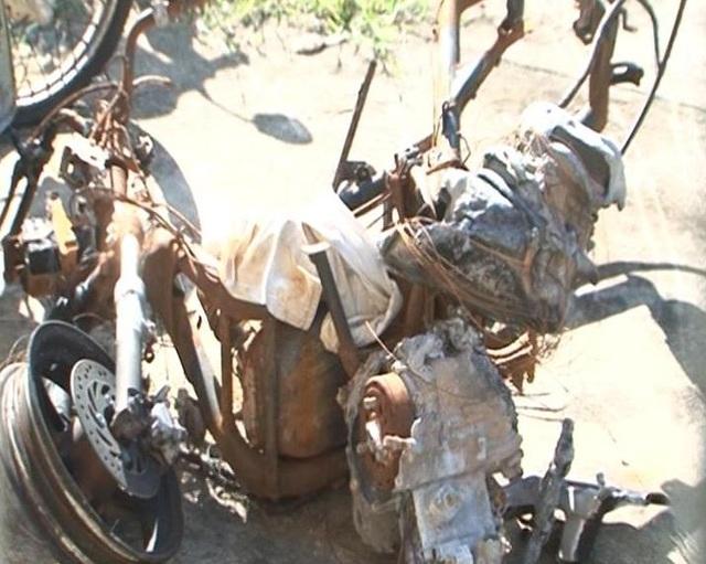 Chiếc xe máy cùng gần 11 triệu đồng của chị Ba bị Nhật đốt trụi