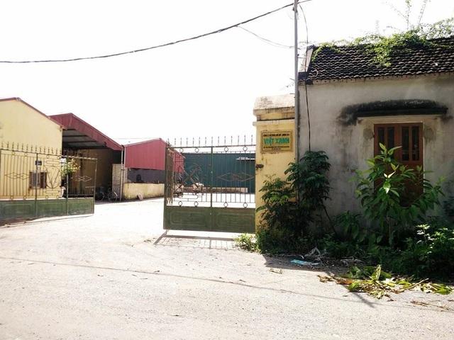 Nhà máy chế biến nông sản của công ty Việt Xanh đóng tại xã Khánh Hòa, huyện Yên Khánh, Ninh Bình.