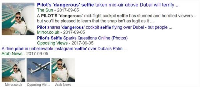 Nhiều tờ báo lớn đã tin vào bộ ảnh không tưởng của anh chàng phi công.