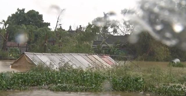 Nhiều nơi ở Thị xã Hương Thủy đã bị ngập sâu