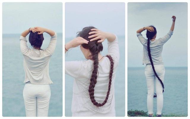 Mái tóc dài 2m của Tố Hạnh