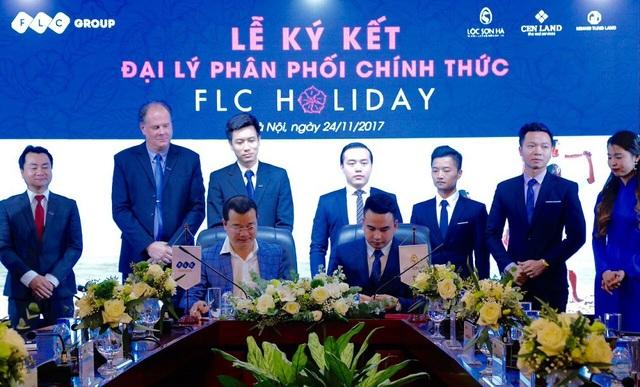 Ông Trần Quang Huy - Tổng Giám đốc, đại diện Tập đoàn FLC ký hợp đồng hợp tác