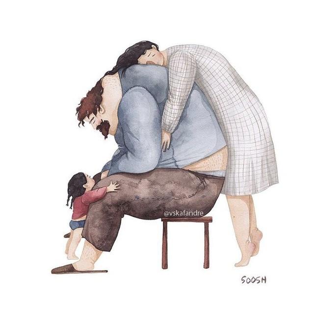 Ngay cả người đàn ông dù mạnh mẽ tới đâu, cũng có lúc yếu đuối, cảm thấy bất lực. Thế nhưng đừng quên rằng luôn có đó sự động viên đến từ những cái ôm đầy yêu thương.
