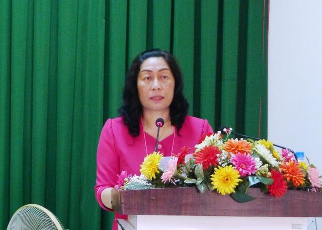 Bà Lê Thị Vệ - Chủ tịch Ủy ban MTTQ tỉnh Kiên Giang đánh giá rất cao công tác giám sát, phản biện xã hội của MTTQ các cấp