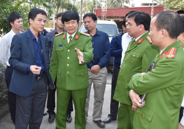 Đại tá Khương Duy Oanh chỉ đạo công tác điều tra vụ án