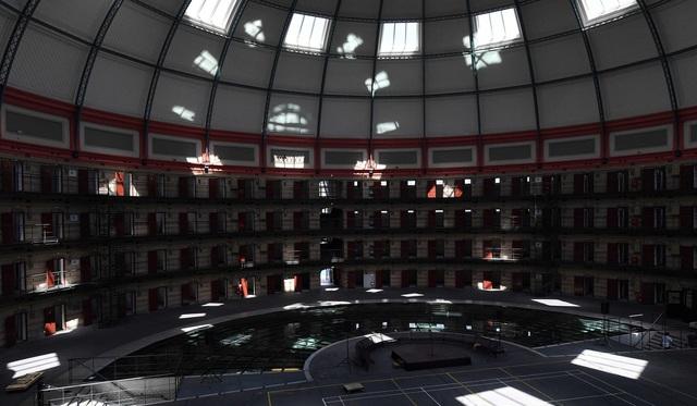 Quang cảnh bên trong nhà tù Boschpoort (Ảnh: AFP)