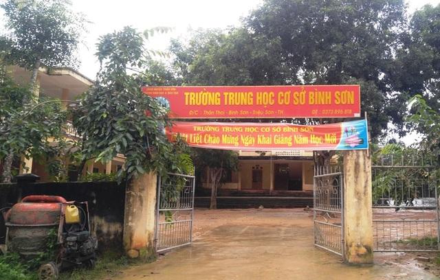 Trường THCS Bình Sơn nằm ở vùng đặc biệt khó khăn của huyện Triệu Sơn