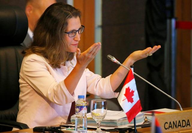 Bà Chrystia Freeland được bổ nhiệm làm Ngoại trưởng Canada hồi tháng 1/2017. Bà là một nhà văn, nhà báo và chính trị gia. (Ảnh: Reuters)