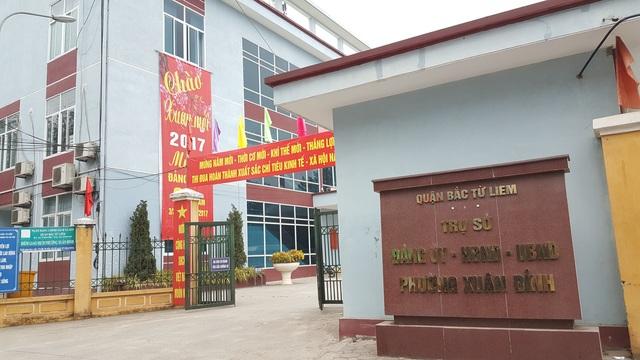 Trụ sở UBND phường Xuân Đỉnh.