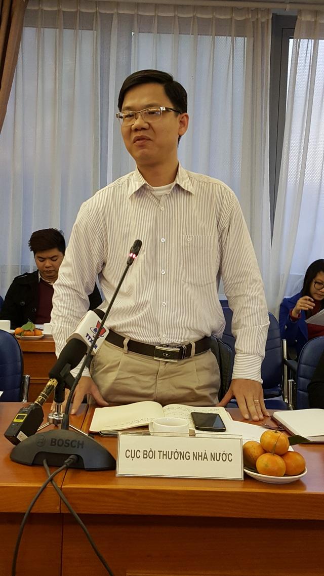 Ông Trần Việt Hưng- Phó cục trưởng Cục Bồi thường nhà nước (Ảnh: Thế Kha).