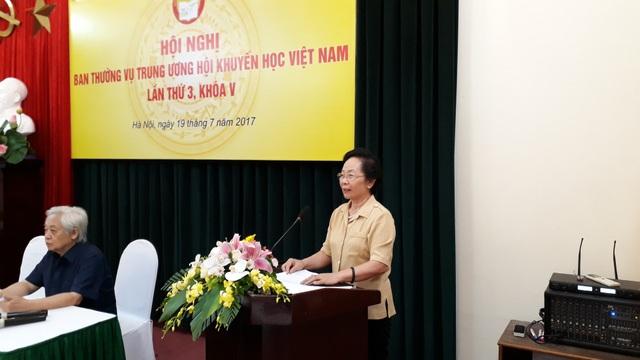 Chủ tịch Hội Khuyến học Việt Nam GS.TS Nguyễn Thị Doan