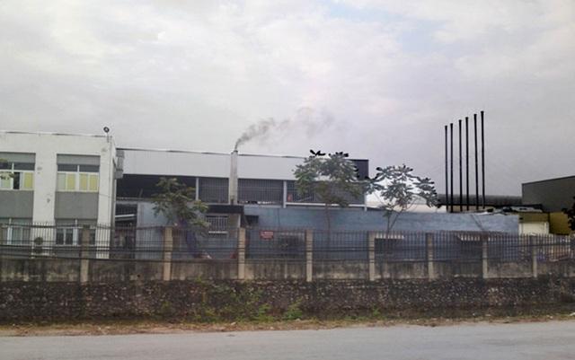 Khí thải từ Công ty TNHH Khải Thừa Việt Nam. Ảnh: Internet.