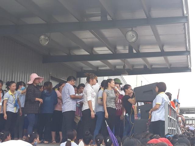 4 ngày liên tục, hơn 6000 công nhân Công ty TNHH S&H Vina Thạch Thành đình công