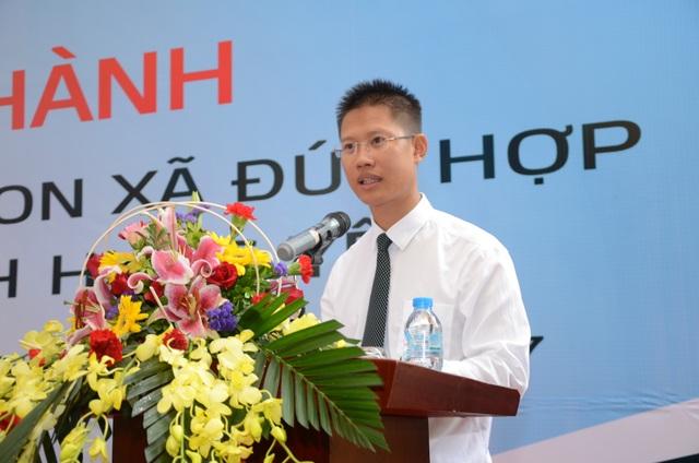 Ông Nguyễn Xuân Cao Cường – Phó Giám đốc phụ trách điều hành Vietcombank Hưng Yên phát biểu tại buổi lễ