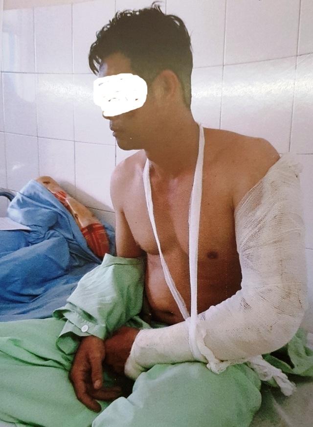 Ông H. đang được điều trị tại bệnh viện