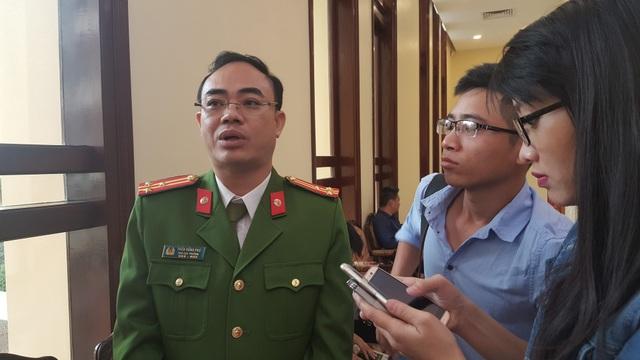 Thượng tá Trần Hồng Phú, Phó cục trưởng C72 - Tổng cục Cảnh sát (Ảnh: Thế Kha).