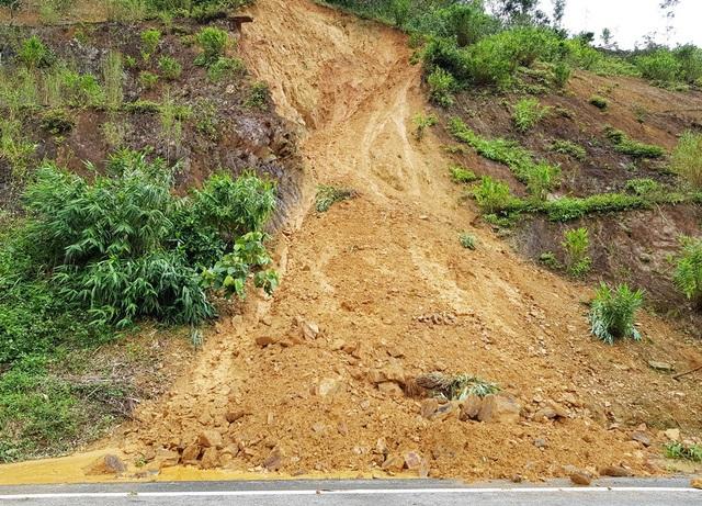 Theo hướng từ thị trấn Khánh Vĩnh (huyện Khánh Vĩnh) đi lên TP Đà Lạt liên tiếp bắt gặp các điểm sụt trượt