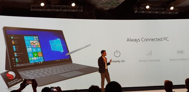 Microsoft bắt tay với Qualcomm để đưa chip Snapdragon lên laptop Windows 10 của mình.