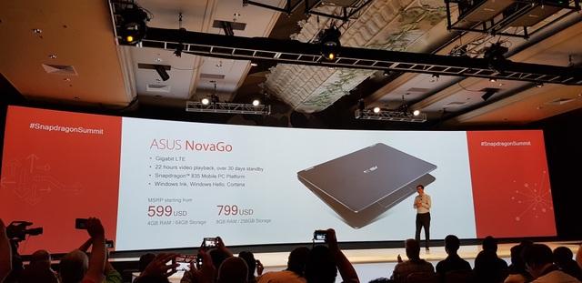 Máy tính Spandragon LTE đầu tiên trên thị trường Asus NovaGo sẽ được bán với giá từ 599 USD-799 USD.