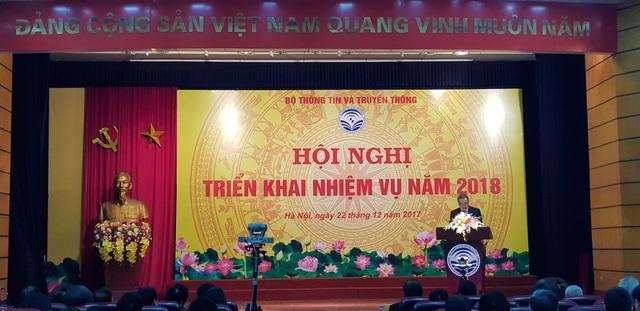 Hội nghị tổng kết năm 2017 và triển khai kế hoạch năm 2018 tại Bộ Thông tin & Truyền thông (TT&TT)