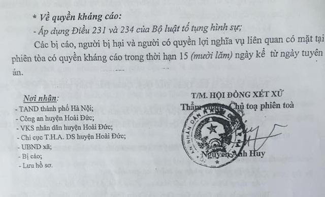 Bản án tuyên phạt 2 mức án tù 5 năm và 5 năm 6 tháng với hai anh em ruột Quý, Thuý sau 14 năm khởi tố.