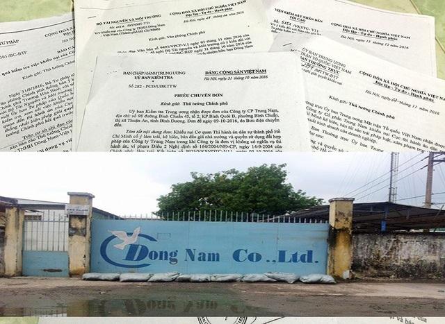 Bộ TN&MT khẳng định việc chuyển nhượng nhà xưởng và quyền sử dụng hơn 4.700m2 đất là đúng quy định của pháp luật nhưng Sở TN&MT TP HCM lại thu hồi, hủy bỏ đăng kí thay đổi trên GCNQSDĐ của Công ty cổ phần Trung Nam theo đề nghị của cơ quan THADS TP HCM là không phù hợp với quy định.